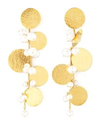Herve Van Der Straeten | Metallic Pastilles Drop Earrings | Lyst