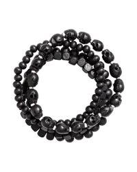 H&M - Black 4-Pack Bracelets for Men - Lyst