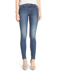 M.i.h Jeans | Blue High Rise Skinny Jeans | Lyst