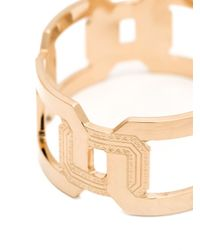 Rebecca | Metallic 'elizabeth' Square Link Cuff | Lyst