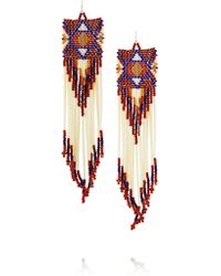 Jacquie Aiche - Red Bead And Porcupine Earrings - Lyst