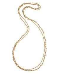 Serefina - Metallic Circle Duo Necklace - Gold - Lyst