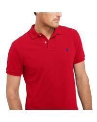 Ralph Lauren | Red Classic-fit Mesh Polo Shirt for Men | Lyst