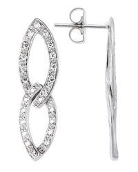 Charriol - Metallic 18k White Gold 0.43tcw Dangle Earrings - Lyst