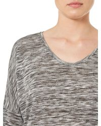 Vero Moda | Gray 3/4 Sleeve Top | Lyst