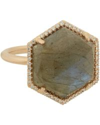 Irene Neuwirth | Green Gemstone Hexagonal Ring | Lyst