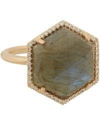 Irene Neuwirth - Green Gemstone Hexagonal Ring - Lyst