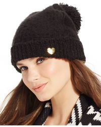 Betsey Johnson | Blue Fuzzy Logic Cuff Hat | Lyst