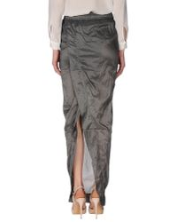 DRKSHDW by Rick Owens - Gray Long Skirt - Lyst
