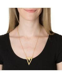 Gorjana | Metallic Mika Pendant Necklace | Lyst