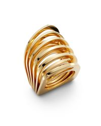 Vita Fede | Metallic Futuro Cut Ring/goldtone for Men | Lyst
