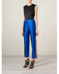 House of Holland | Blue Cigarette Trouser | Lyst
