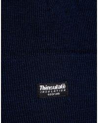 ASOS - Blue Thinsulate Beanie In Navy for Men - Lyst