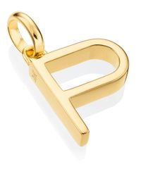 Monica Vinader | Metallic Gold-plated Alphabet Pendant P | Lyst