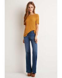 Forever 21 - Orange Classic Ribbed Top - Lyst