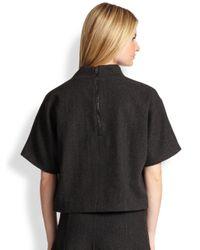 Ralph Lauren Black Label - Gray Hammond Cropped Wool Top - Lyst