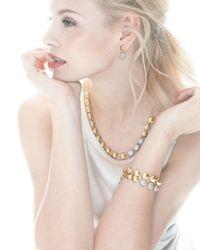 Gurhan   Metallic Lentil Ice 24k Gold & Diamond Bracelet   Lyst