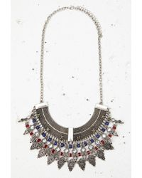 Forever 21 | Metallic Beaded Filigree Statement Necklace | Lyst