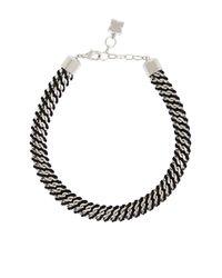 BCBGMAXAZRIA | Black Woven Box-chain Necklace | Lyst
