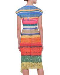 Akris - Multicolor Cap-sleeve Wind Turbine Silk Dress - Lyst