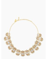 kate spade new york | Metallic Crystal Arches Necklace | Lyst