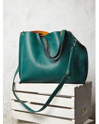 Free People | Green Slouchy Vegan Tote | Lyst