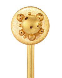 Paula Mendoza   Metallic Gold Plated Four Way Convertible Earrings   Lyst