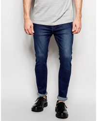 Dr. Denim | Blue Jeans Leon Drop Crotch Skinny Tapered Fit Dark Stone for Men | Lyst