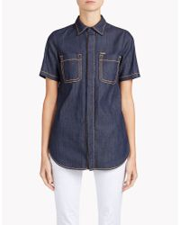 DSquared² | Blue Malaika Short Sleeve Shirt | Lyst