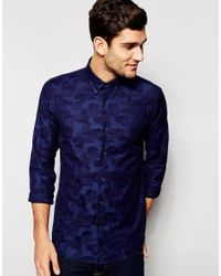 Junk De Luxe | Blue Jacquard Shirt for Men | Lyst