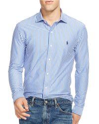 Polo Ralph Lauren | Blue Striped Knit Interlock Shirt for Men | Lyst