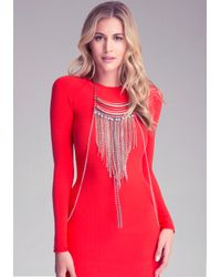 Bebe | Multicolor Fringe Bodychain Necklace | Lyst