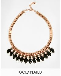 Ted Baker - Black Pear Drop Necklace - Lyst