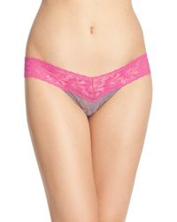 Hanky Panky | Pink 'colorplay' Low Rise Thong | Lyst