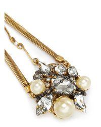 Erickson Beamon | Metallic 'stratosphere' Crystal Chain Drop Earrings | Lyst