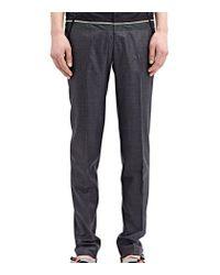 Kolor - Gray High Tech Pleated Wool Pants for Men - Lyst