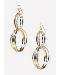 Bebe - Metallic Multi-circle Earrings - Lyst