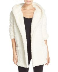 Make + Model - White 'oh So Cozy' Hooded Cardigan - Lyst