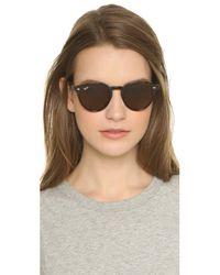 Ray-Ban - Highstreet Round Sunglasses - Havana Dark/brown Dark - Lyst