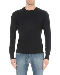 Armani Jeans - Blue Crewneck Cotton Jumper for Men - Lyst