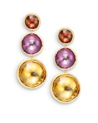 Marco Bicego | Multicolor Pink Tourmaline, Amethyst, Citrine & 18K Yellow Gold Earrings | Lyst
