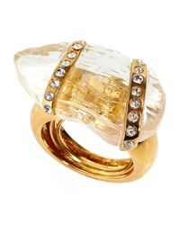 Kara Ross | Metallic Gold-plated Crystal Wrap Ring | Lyst
