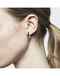 Maya Magal - Metallic Runway Earrings Gold - Lyst
