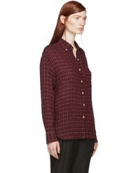 Étoile Isabel Marant - Purple Prune Check Long Tap Dance Shirt - Lyst