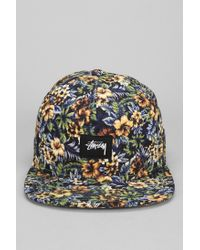 Stussy Island Floral Snapback Hat for Men - Lyst 82be4e012fee