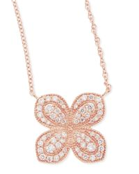 Jamie Wolf - Metallic Rose Gold Pavé Scalloped Flower Necklace With Diamonds - Lyst