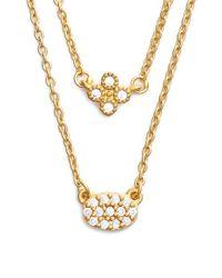 Freida Rothman | Metallic 'femme' Double Pendant Necklace | Lyst