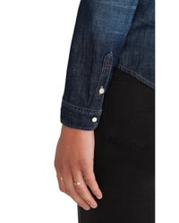 Maison Scotch - Blue Denim Western Shirt - Lyst