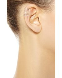 Elise Dray - Metallic Stripes Ear Cuff in Pink Gold - Lyst