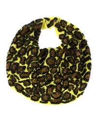 Roarke | Multicolor Leopard Necklace, Lime | Lyst
